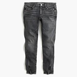 AMO® twist zip jean in smoke wash