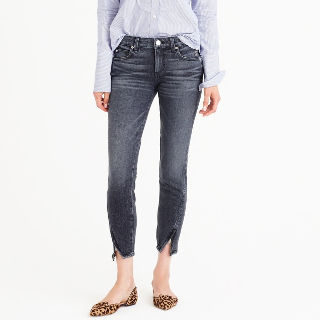 AMO® twist zip jean in smoke wash