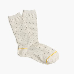 Trouser socks in mini polka dot