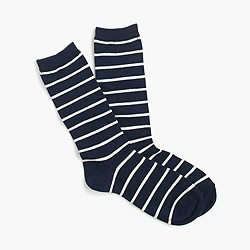 Trouser socks in stripe