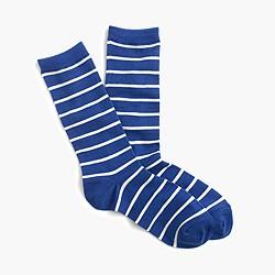 Trouser socks in stripe