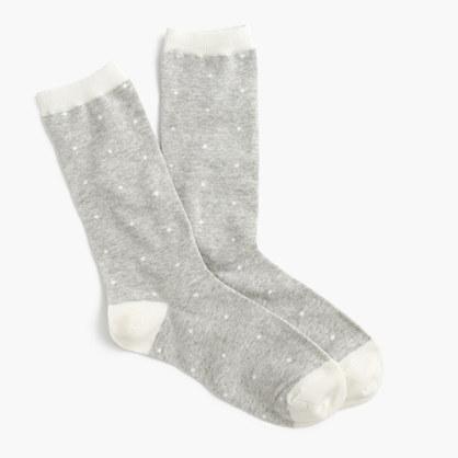 Trouser socks in polka dot