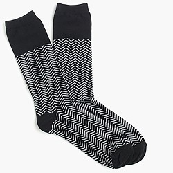 Colorblock chevron trouser socks