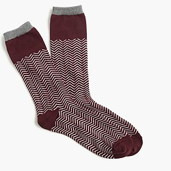 Colorblock chevron trouser socks