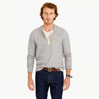 Wallace & Barnes double-knit henley