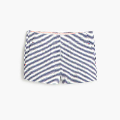 Girls' Frankie short in seersucker