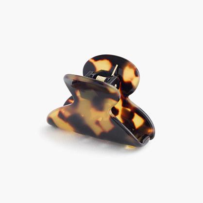 Mini hair clip in Italian tortoise