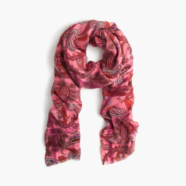 Vibrant paisley scarf
