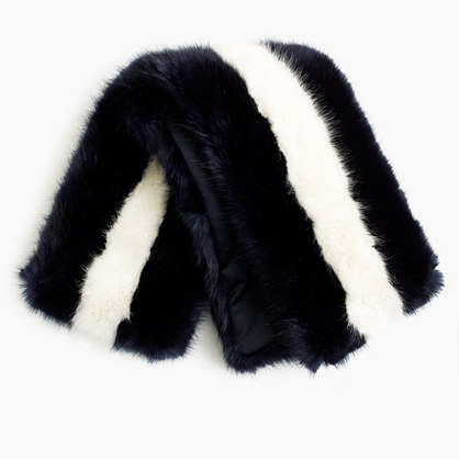 J.Crew for NET-A-PORTER® Collection faux-fur striped stole