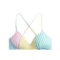 Mixed stripe cross-back french top