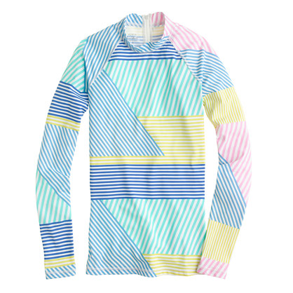 Rash guard in mixed stripe