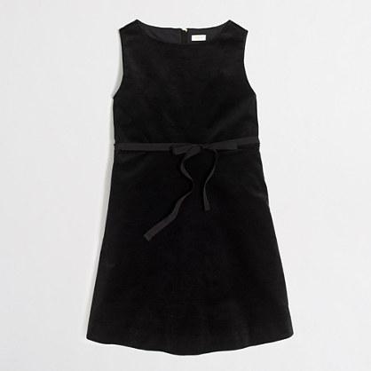 Girls' velvet dress