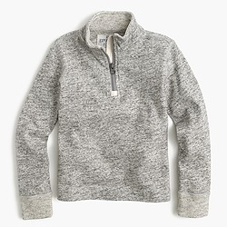 Boys' heathered half-zip sweater