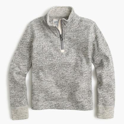 Boys' heathered half-zip sweater