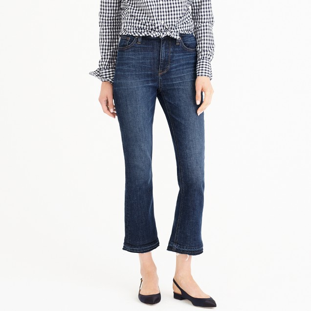 Petite Billie demi-boot crop jean in Brookdale wash
