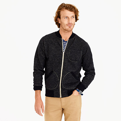 Wallace & Barnes fleece bomber jacket