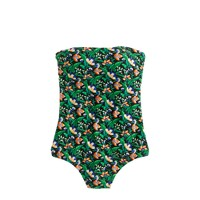 Bandeau one-piece swimsuit in Ratti® lotus floral print
