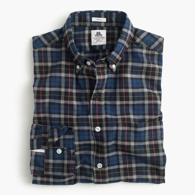 Slim Thomas Mason® for J.Crew flannel shirt in multicolor plaid
