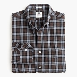 Slim Thomas Mason® for J.Crew flannel shirt in brown plaid