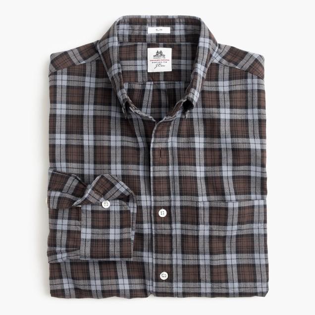Slim Thomas Mason® for J.Crew flannel shirt in brown plaid