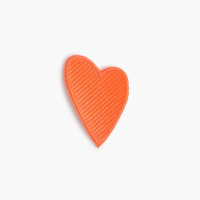 Kids' heart iron-on critter patch