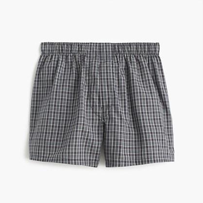 Grey check boxers