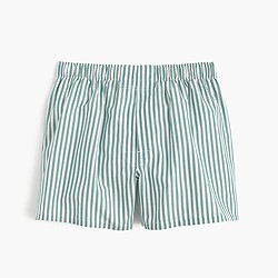 Green striped boxers