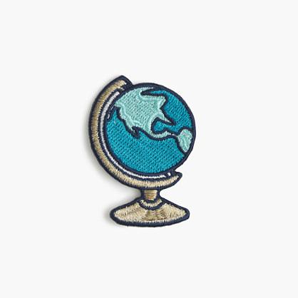 Kids' globe iron-on critter patch