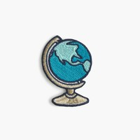 Kids' globe iron-on critter patch