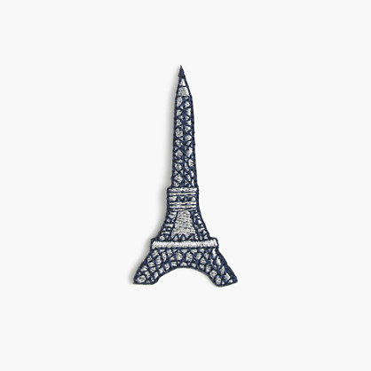 Kids' Eiffel Tower iron-on critter patch