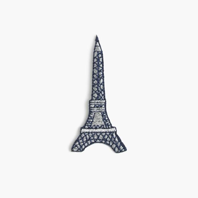 Kids' Eiffel Tower iron-on critter patch
