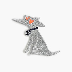 Kids' Izzy iron-on critter patch