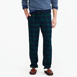 Flannel pajama pant in Black Watch plaid