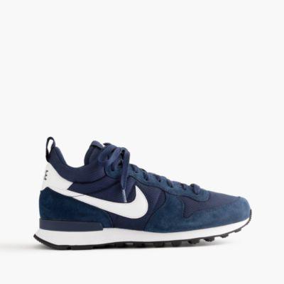 Nike® internationalist mid sneakers in navy