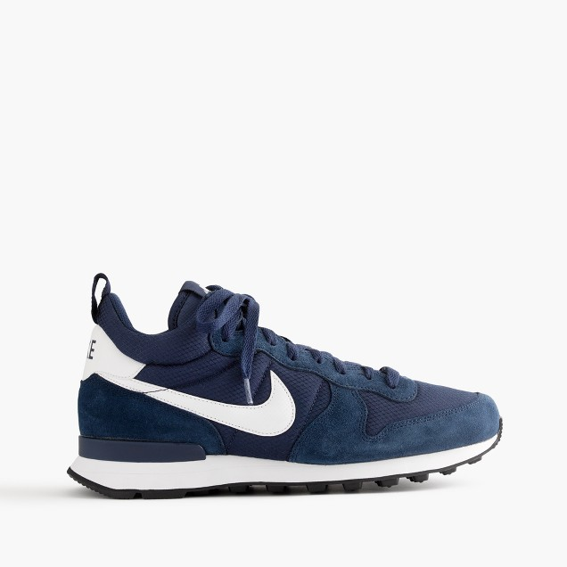 Nike® internationalist mid sneakers in navy