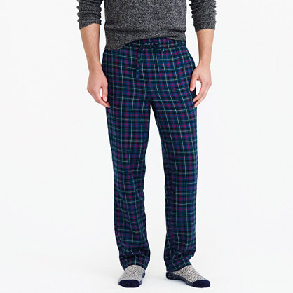 Flannel pajama pant in multicolor plaid