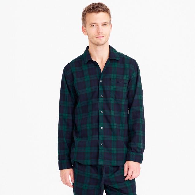 Twill pajama set in Black Watch