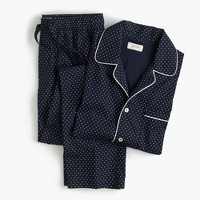 Cotton poplin pajama set in polka dot