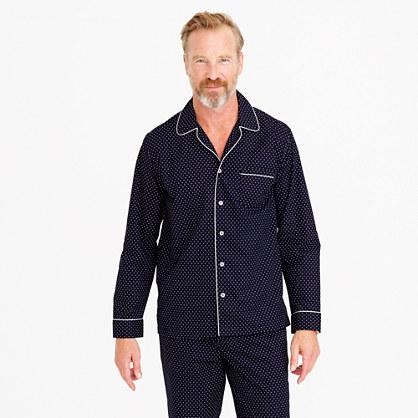 Cotton poplin pajama set in polka dot