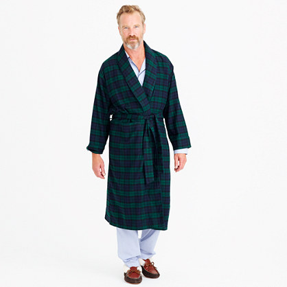 Flannel robe in Black Watch