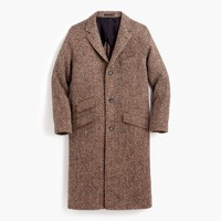 Unconstructed Irish herringbone tweed topcoat