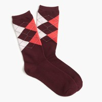 Trouser socks in diamond plaid