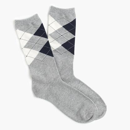 Trouser socks in diamond plaid