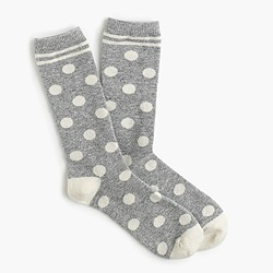 Trouser socks in big dot