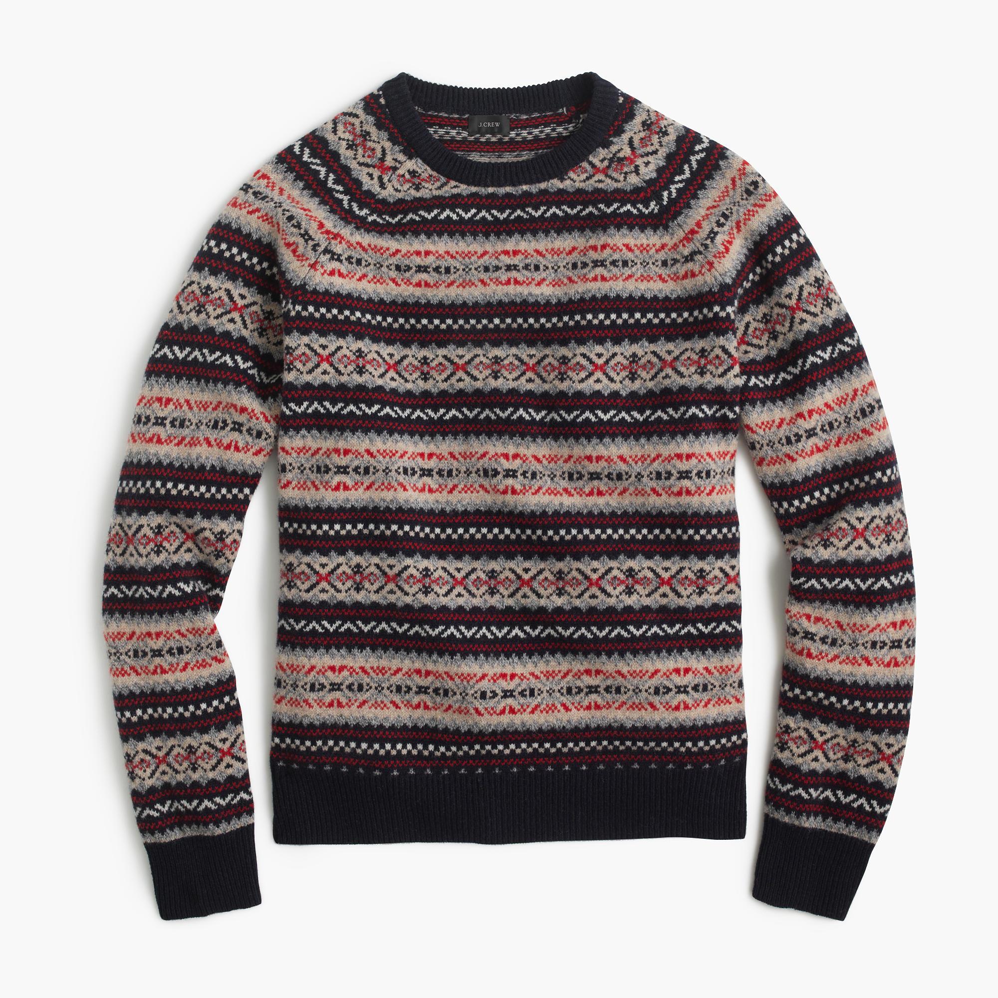 lambswool fair isle sweater men 39 s sweaters j crew. Black Bedroom Furniture Sets. Home Design Ideas