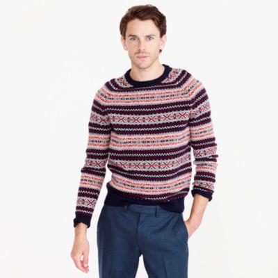 Lambswool Fair Isle Sweater : Men's Sweaters | J.Crew
