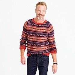 Lambswool Fair Isle sweater in heather rust