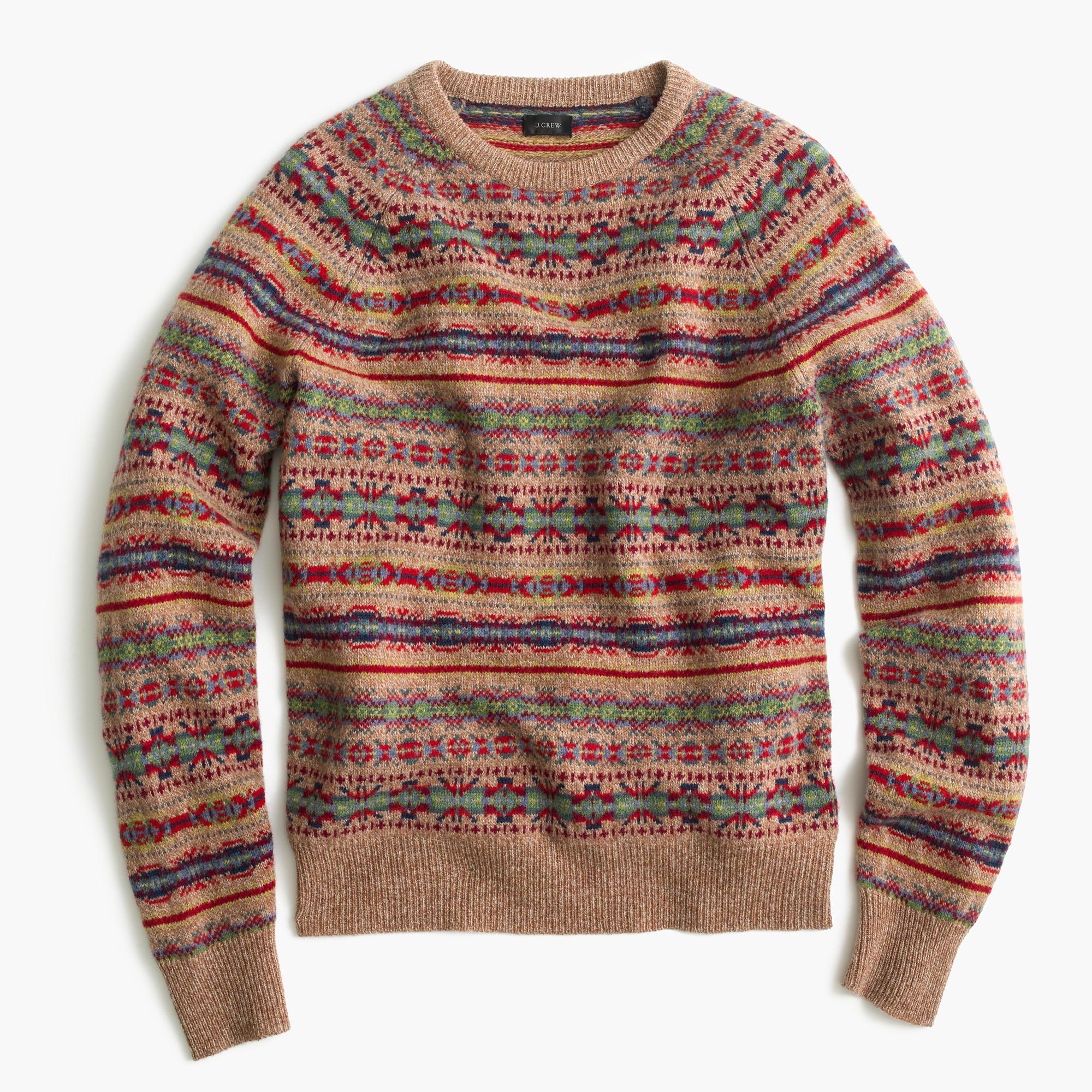 lambswool fair isle sweater in honey men 39 s sweaters j crew. Black Bedroom Furniture Sets. Home Design Ideas