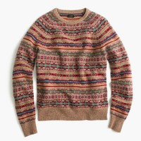 Lambswool Fair Isle sweater in honey