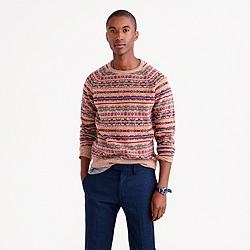 Lambswool Fair Isle sweater in honey